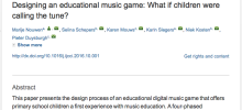New publication in the International Journal of Child-Computer Interaction